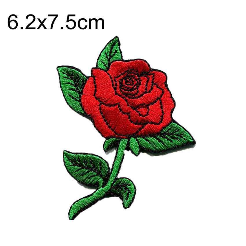 2019 Nieuwe Sequin Rose Bloem Vrede Bloemen Patch Voor Kleding Geborduurd Jeans Jacket Patches Trouwjurk Patchwork Biker Badge