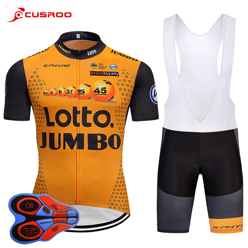 2018 Pro Team Lotto Cycling Jersey Summer Short Sleeve Set Cycling Clothing Ropa Ciclismo Fast Drying 9d Bike Bib Pants QUICK 2017pro team lotto soudal 7pcs full set cycling jersey short sleeve quickdry bike clothing mtb ropa ciclismo bicycle maillot gel