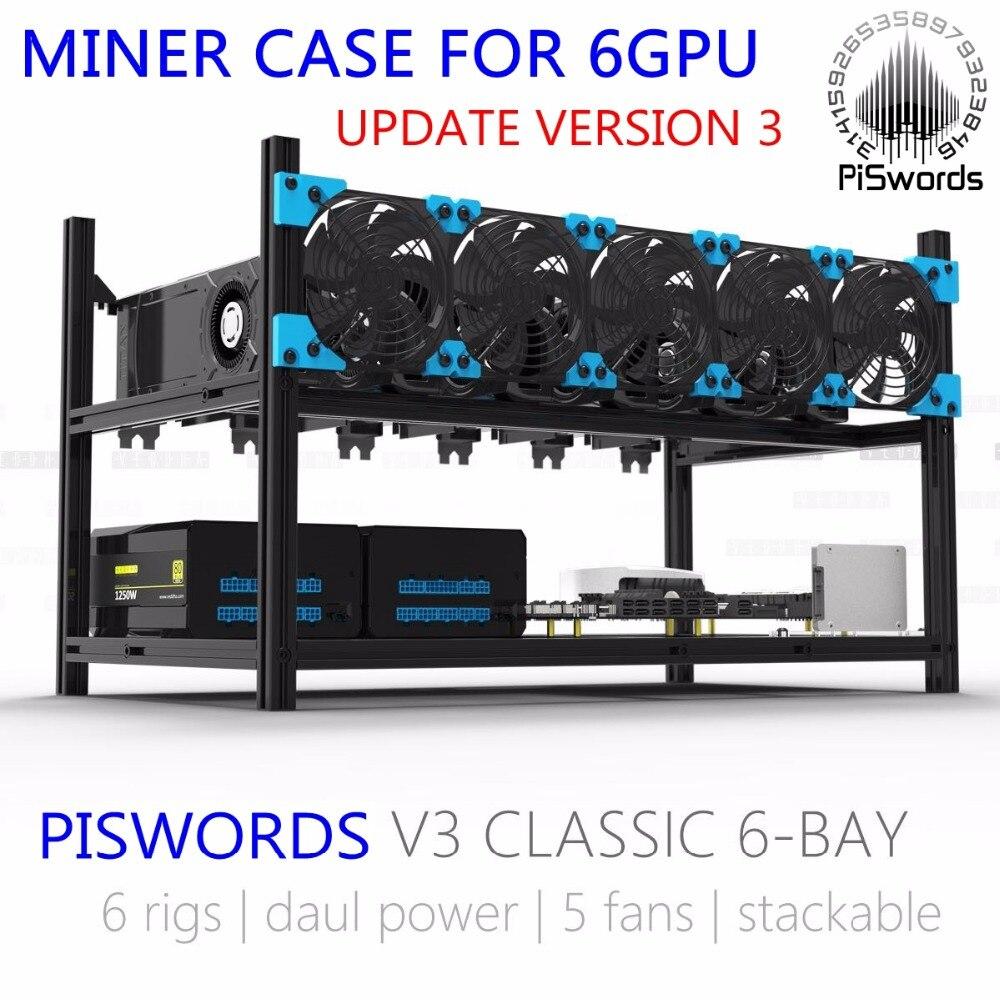 Aliexpress Com Buy 6 Gpu Miner Mining Rig Aluminum