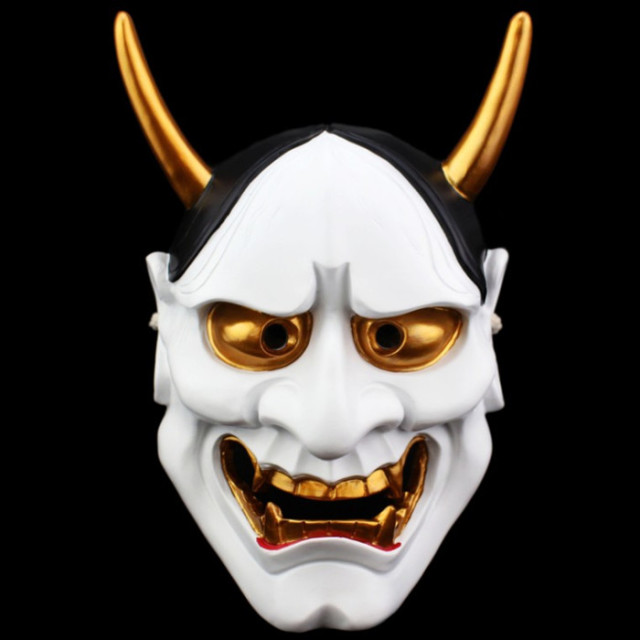 Resin Japanese Buddhist Evil Oni Noh Hannya Mask Cosplay