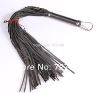 15% off 2013 delicate Black faux Leather Whip with long tails Lash Strap Sex Toys Couple Game Flog toy soft stronger