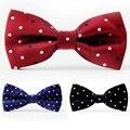 Lo nuevo de Poliéster Pajarita de Los Hombres de la Marca Masculina Polka Dot Bowtie Corbata de Negocios Corbatas de Boda Vestidos Bowtie Gravata Borboleta