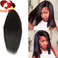 Malaysian Virgin Hair Yaki Clip ins Natural Black Unprocessed Real Human Hair Clip in Extensions Light Yaki Straight 160g