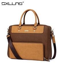 Sxllns Men's Shoulder Bag Brand Handbag Briefcases Laptop Tote Bag Men Messenger Bag Casual Vintage Travel Crossbody Bag