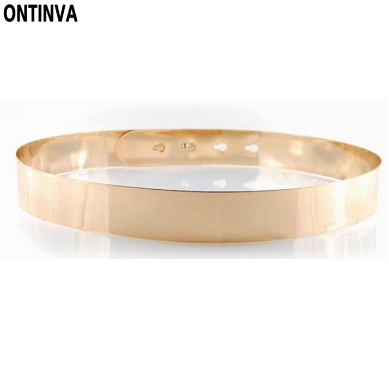 Silver Golden Alloy Waist Belt Sashes Women Gold Fashion Accessories Cummerbunds Metal Women's Belt Female All-match Wide Belt