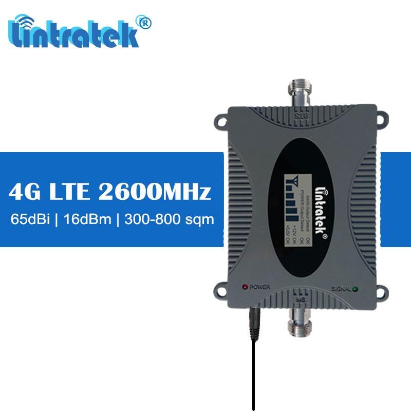 Lintratek Mini 4G LTE 2600 mhz FDD 65 dB Gain répéteur cellulaire 2600 4G amplificateur de Signal de téléphone portable avec écran LCD # dd
