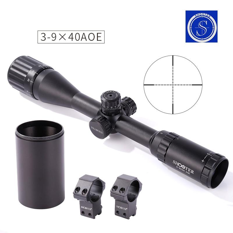 атқыштар 3-9X40AOE Оптикалық көзқарас airsoft әуе шабуылы Ашық аңшылық кеңістігі espingarda de ar comprimido армиялық винтовка