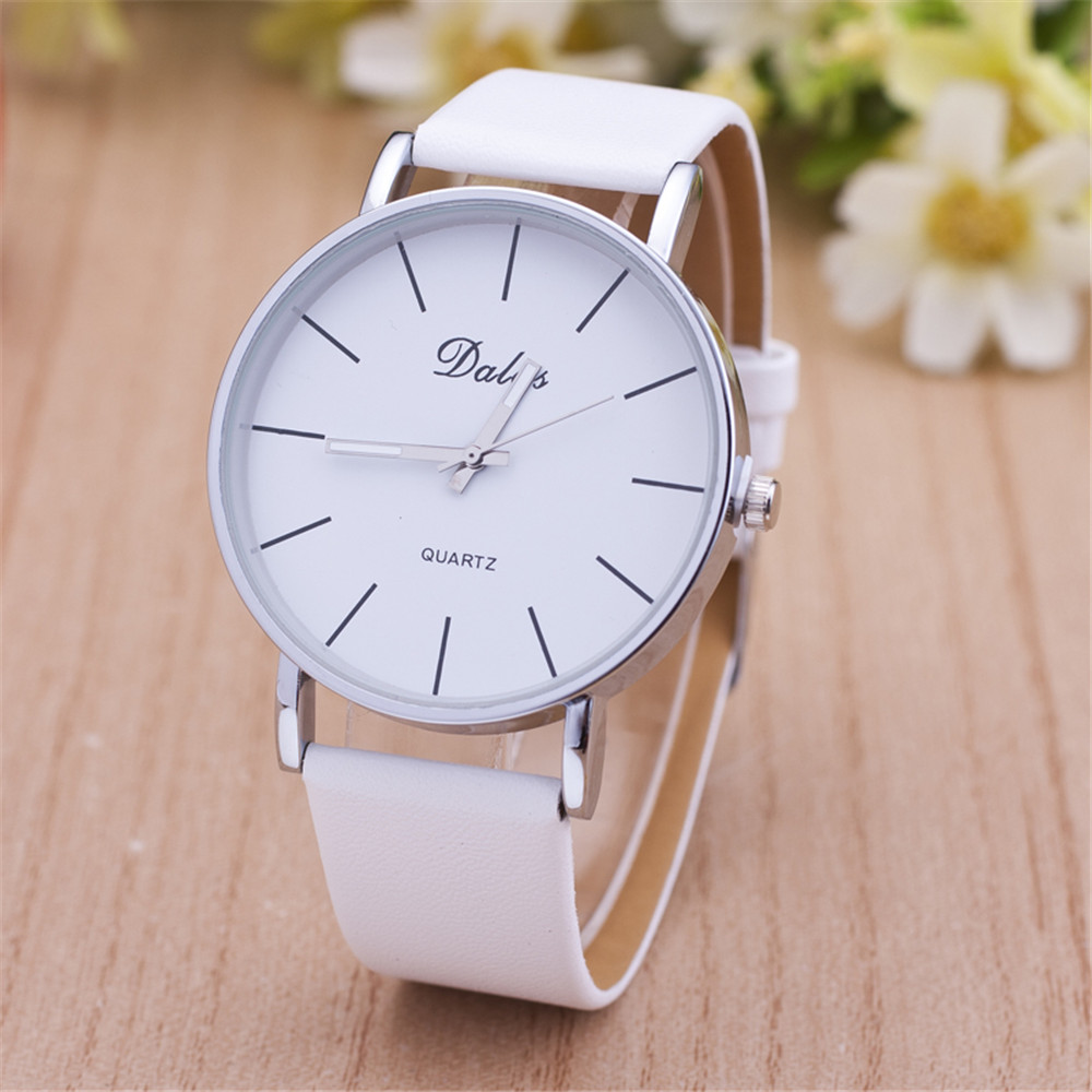 Price drop hot selling casual leather watch women and men high quality simple quartz watch 2016 new student watch factory direct