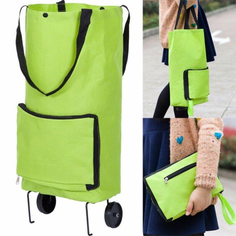 Portable Foldable Shopping Trolley Cart Luggage Travel Wheels Bag Multi-use New
