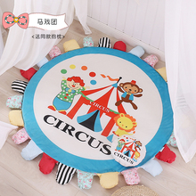 Miracille Modern Starry Sky Printed Children Round Play Carpet Rug Galaxy Bedroom Computer Chair Tea Table Home Decor Floor Mat
