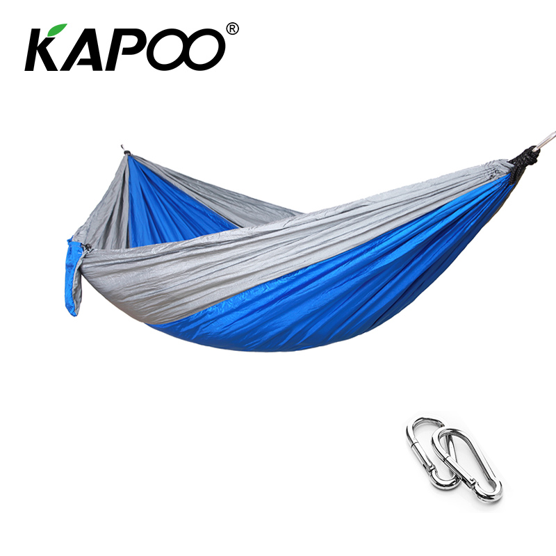 Portable Blue Single Double Hammock Leisure Outdoor Hammock Outdoor Furniture Camping Hammock Picnic Mat Soft Bed Swing Chair blue leisure outdoor hammock portable parachute hammock outdoor furniture single double hammock picnic mat camping hammock