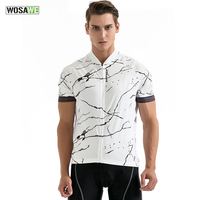 WOSAWE 2017 Summer Men Cycling Jersey Short Sleeves Top Shirts Breathable Quick Dry Mtb Mountain Bike