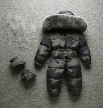 2020 חורף חדש תינוק ילד ילד ילדה Rompers חורף חליפות הללו גדול פרווה באיכות גבוהה להתחמם עיצוב לילדים מעל סרבלי