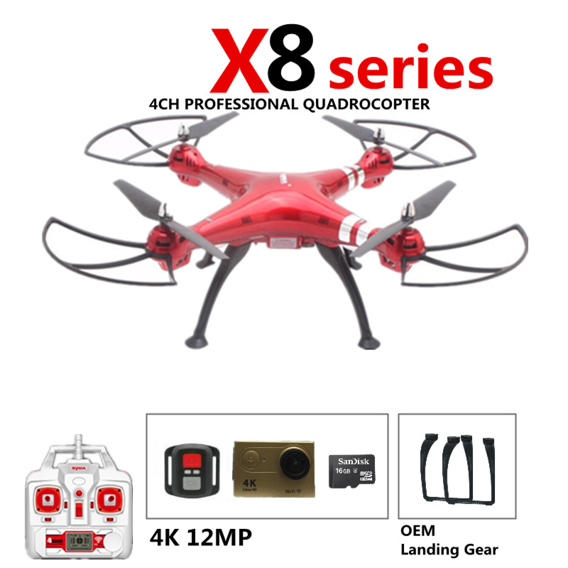 Syma X8G X8HG X8HC RC Drone No Camera Or Drones with H9R 4K Camera 12MP FHD 2.4G Drones With OEM Camera Trains Landing Gear playing with trains