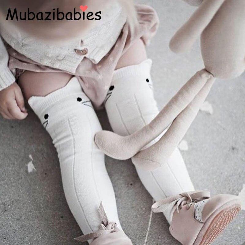 Nette Socken Junge Mädchen Kinder Socken Knie Lange Unisex Kleinkind Socken Baby Baumwolle Socken Kniehohe Lange Bein Wärmer Beinlinge