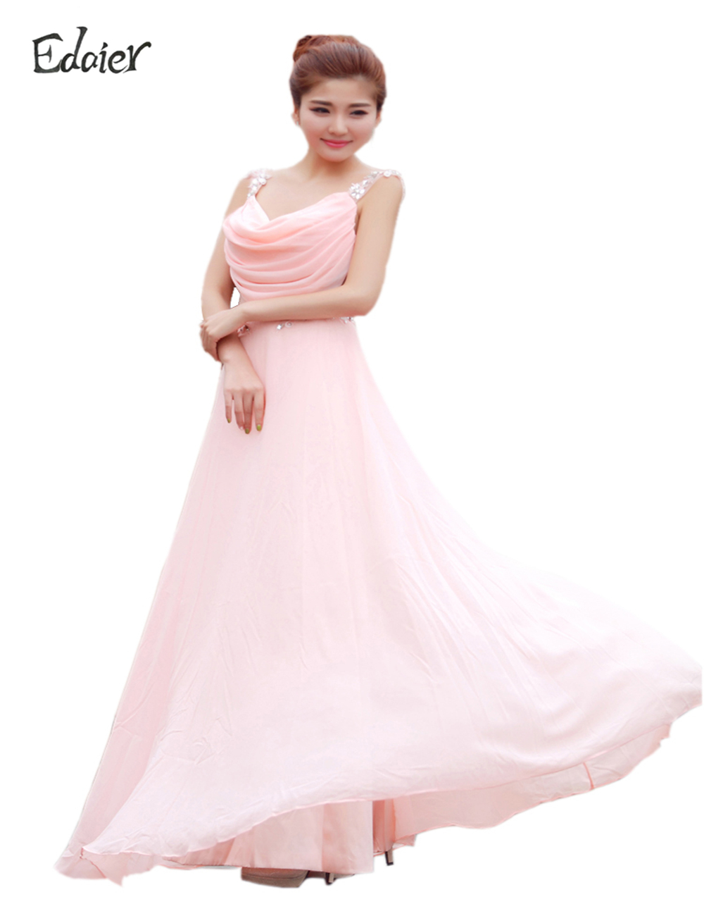 Compare prices on light pink chiffon bridesmaid dress online edaier beautiful cheap chiffon long light pink wedding bridesmaid dresses under 50 prom dress bridesmaids dresses ombrellifo Image collections