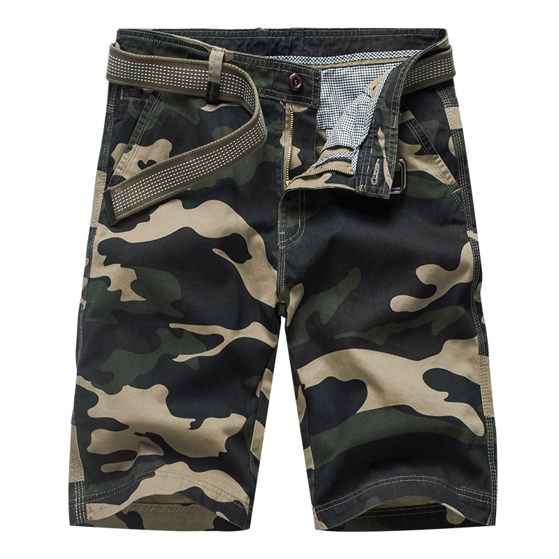 Camouflage Mens Military Cargo Shorts 2020 Brand New Army Tactical Camo Shorts Men Cotton Loose Work Casual Short Pants