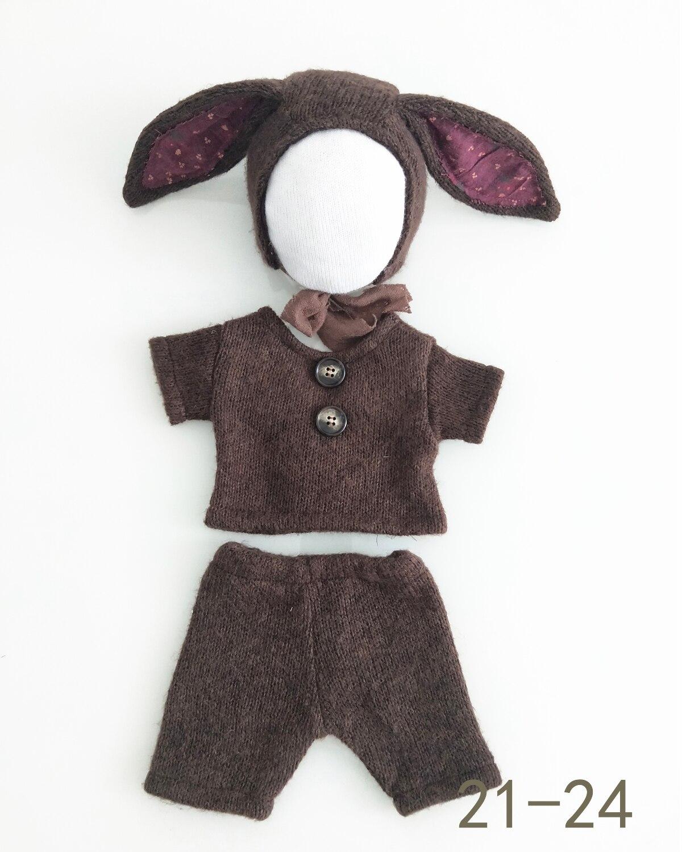 Dvotinst newborn fotografia adereços orelhas do bebê