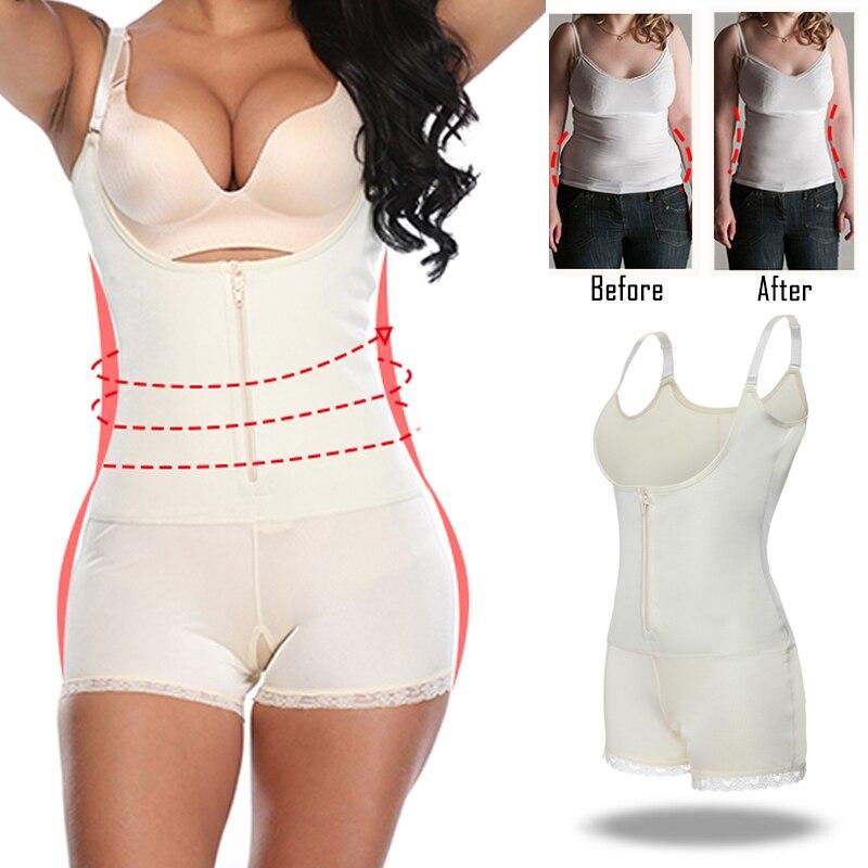 Women Latex Full Body shapewear Modeling Strap Waist Trainer Underbust Slimming Bodysuit Jumpsuit Zipper Hooks Slimming Corset in Bodysuits from Underwear Sleepwears