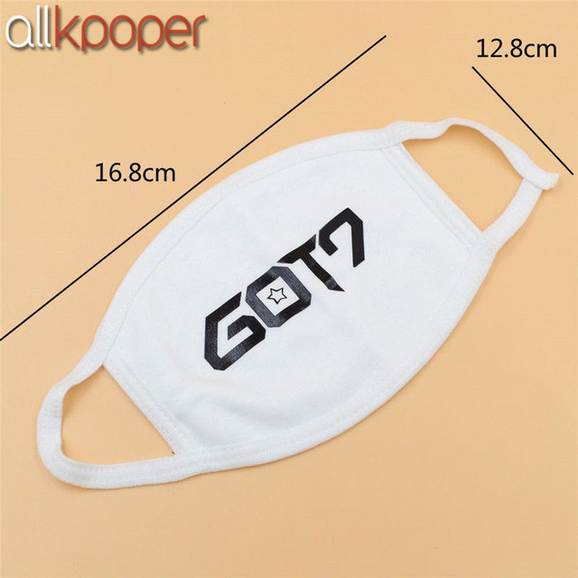 1PCs ALLKPOPER KPOP GOT7 Black Mouth Face Mask Muffle Respirator Cotton Unisex Jackson Mark Winter warm Facial Masks K-pop 4