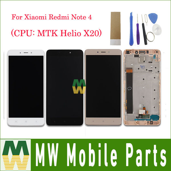 1PC Lot 5 5 For Xiaomi Redmi Note 4 Note4 With Frame LCD Display Touch Screen