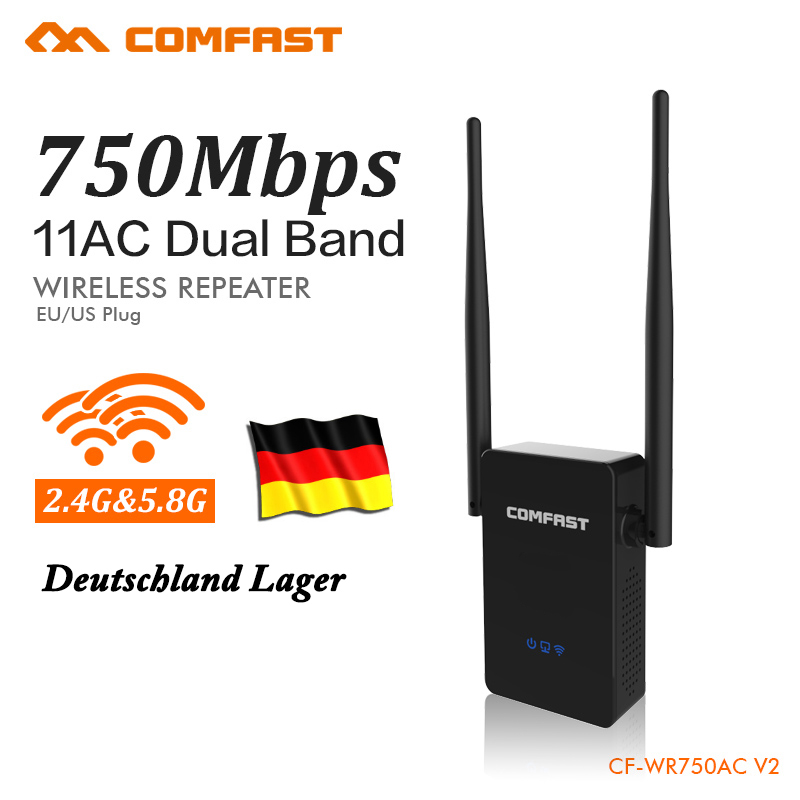 COMFAST 750Mbps WIFI Extender Repeater 2.4G/5.8G wifi wireless router signal amplifierRoteador Router CF-WR750AC Germany Stocks