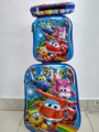 Pikachu  fashion luggage   travel suitcase set  (lunch box + pen boxes+trolley luggage ) Pokemon 6D  luggage with wheels