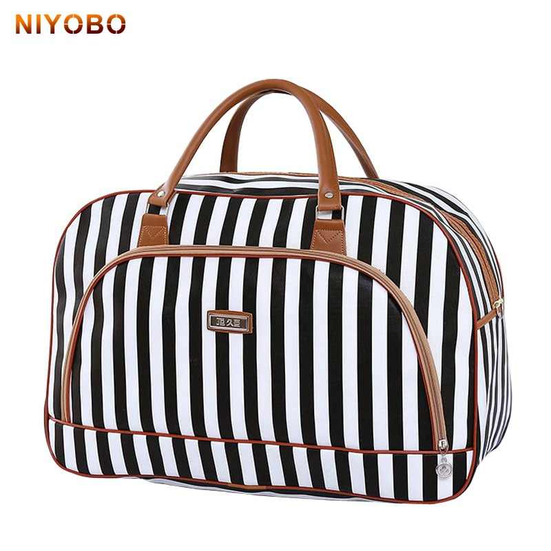 64bf8133b8c1 Women Travel Bags 2018 Fashion Pu Leather Large Capacity Waterproof Print Luggage  Duffle Bag Casual Travel