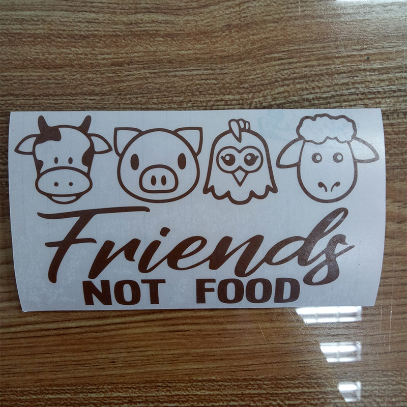15 8 3cm Vegan Friends Not Food Cow Chicken Pig Meat Lamb Decal Window Bumper Vinyl Car Wrap Stickers in Car Stickers from Automobiles Motorcycles