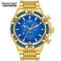 Часы Temeite мужские  роскошные золотые кварцевые часы  армейские водонепроницаемые спортивные наручные часы  мужские часы
