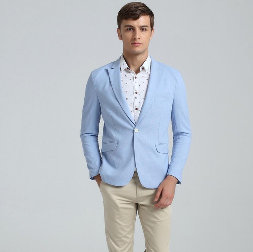 11.1 Men work leisure suit jacket custom business dinner parties coat lapels a grain of buckle the man suit jacket pure color