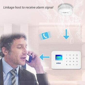 KERUI G18 Smoke Alarm System Fire Protection SMS APP Control GSM Burglar Alarm System Security Protection Sesor Alarm 2