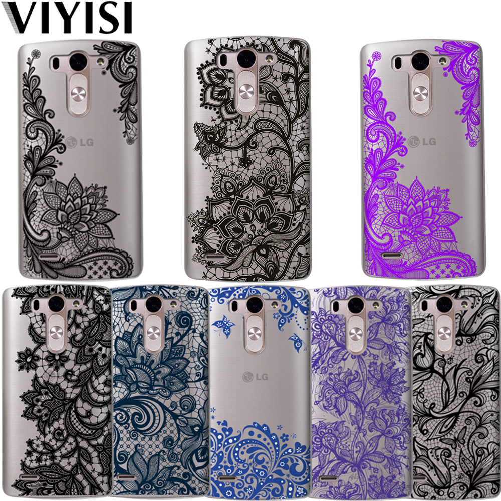 Mandala Floral For LG G4 G5 G6 Phone Case X Power 2 Q6 Q8 K7 K8 K10 2017 Coque Sexy Lace Flower Shell Cover Fundas Capas Etui