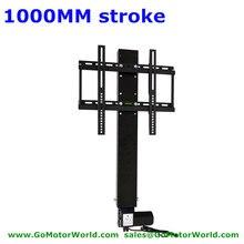 ТВ Лифт ТВ стойка тв крепление 110-240 В AC Вход 1000 мм 40 дюймов ход с пультом дистанционного управления и монтажный кронштейн запчасти