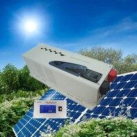 Ce ، rohs ، iso9001 المعتمدة ، lcd البعيد تحكم الشمسية نظام ups العاكس 4000 واط 24 فولت إلى 220 فولت منخفضة التردد العاكس