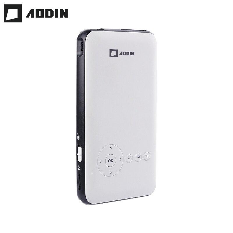 AODIN карман 8 г HD мини-проектор Android 7,1 HDMI Выход Airplay Bluetooth AC3 smart светодио дный портативный видеопроектор DLP для домашнего кинотеатра