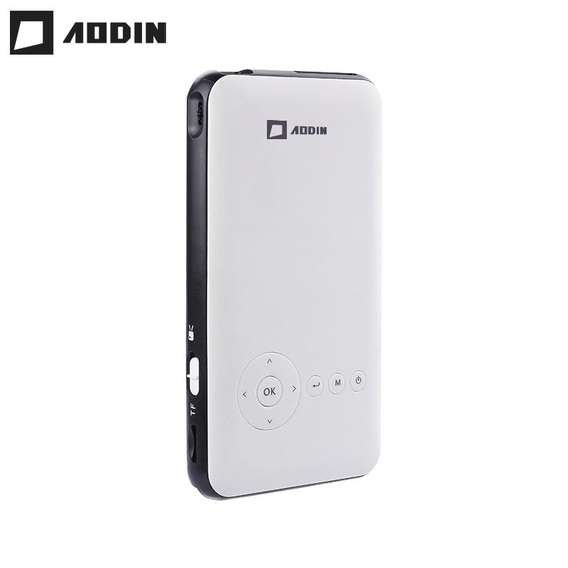 AODIN Карманный 8G HD мини проектор Android 7,1 HDMI выход Airplay Bluetooth AC3 умный светодиодный портативный видеопроектор DLP для домашнего кинотеатра
