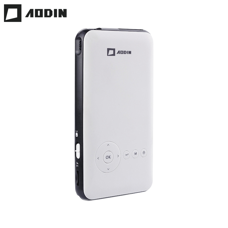 AODIN Poche 8g HD Mini projecteur Android 7.1 Sortie HDMI Airplay Bluetooth AC3 smart led portable beamer DLP pour home cinéma