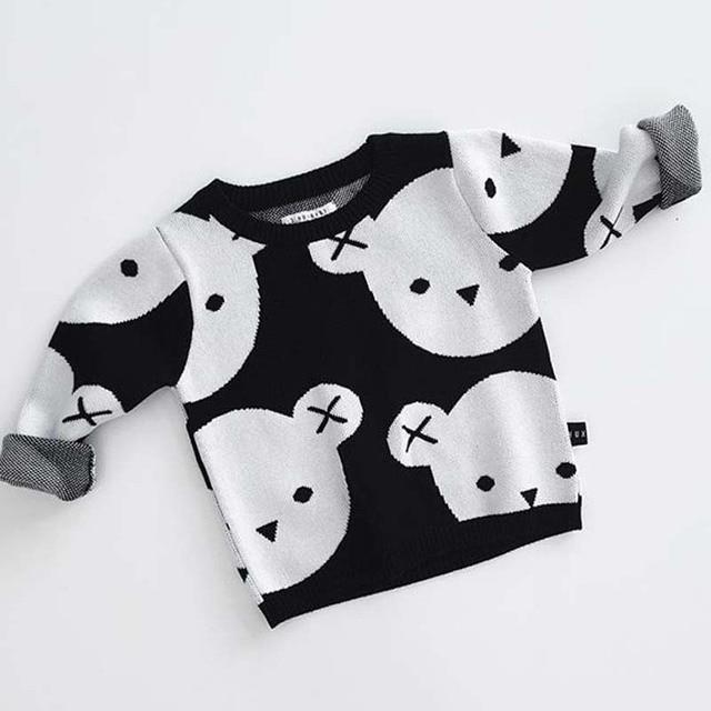 Ins Camisa Suéter de Punto Para Bebés Niñas niños Patrón de Chaqueta ...