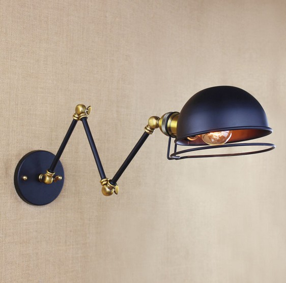 Loft Style Decorative Edison Wall Sconce Bedside Wall Lamp Industrial Vintage Double Arm Wall Lights For Home Lighting