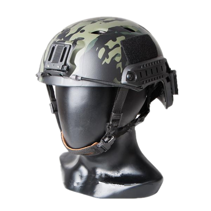Tactical Base Jump Helmet BJ TYPE Sports Helmet For Airsoft Paintball ABS Protecting Helmet Multicam Black Size L