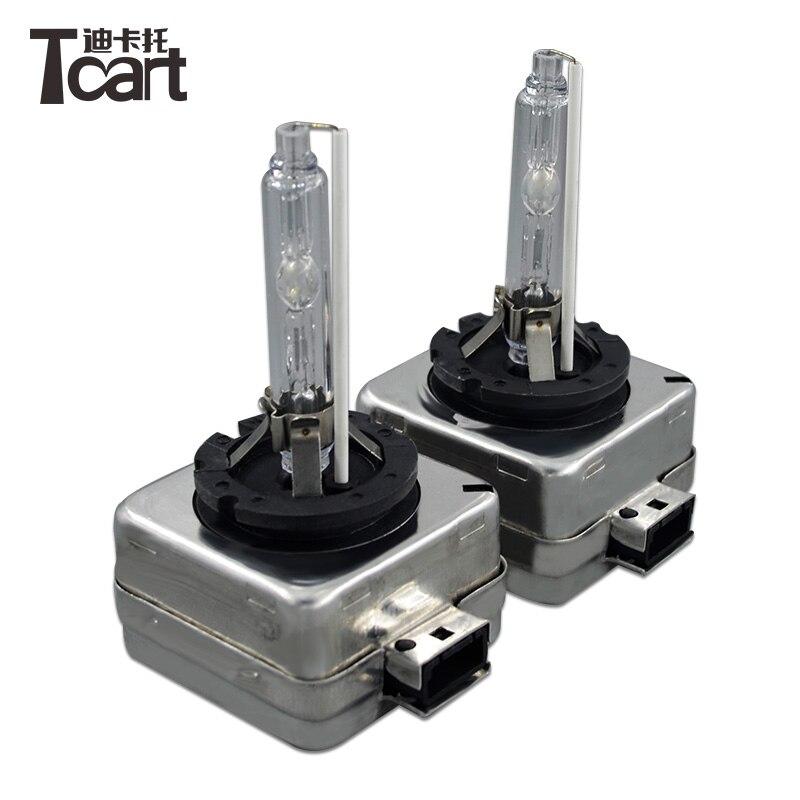 Tcart 2 pcs paire bonne Qualité Voiture Xénon D1S Avec la table de cuisson  Lampe Au Xénon Xenon HID D1S 6000 K Phares Ampoule livraison Gratuite c77d15366b83