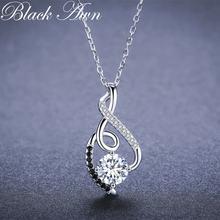 Женское ожерелье из серебра 100% пробы p081