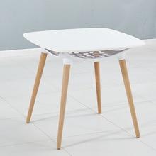 Столы для кафе мебель для дома из массива дерева+ пластиковый, круглый стол квадратный для кофе стол basse минималистский стол современного дизайна