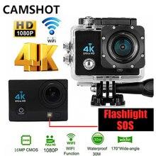 CAMSHOT Wifi Outdoor Waterproof Action Camera 4K hd 1080p 60fps SOS Sports helmet DV Cameras Flashlig bicycle Diving surfing Cam