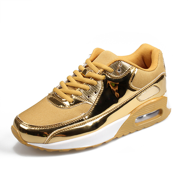 2016 Nueva Marca Zapatillas Hombre Zapatos Con Cordones Al Aire Libre Canasta Femme Pareja Aire Superstar de malla Brillante de Oro de Los Hombres Ocasionales zapatos