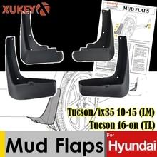 Mud Flaps For Hyundai Tucson ix35 2010   2015 LM 2016  on TL Mudflaps Splash Guards Mudguards Fender Protector