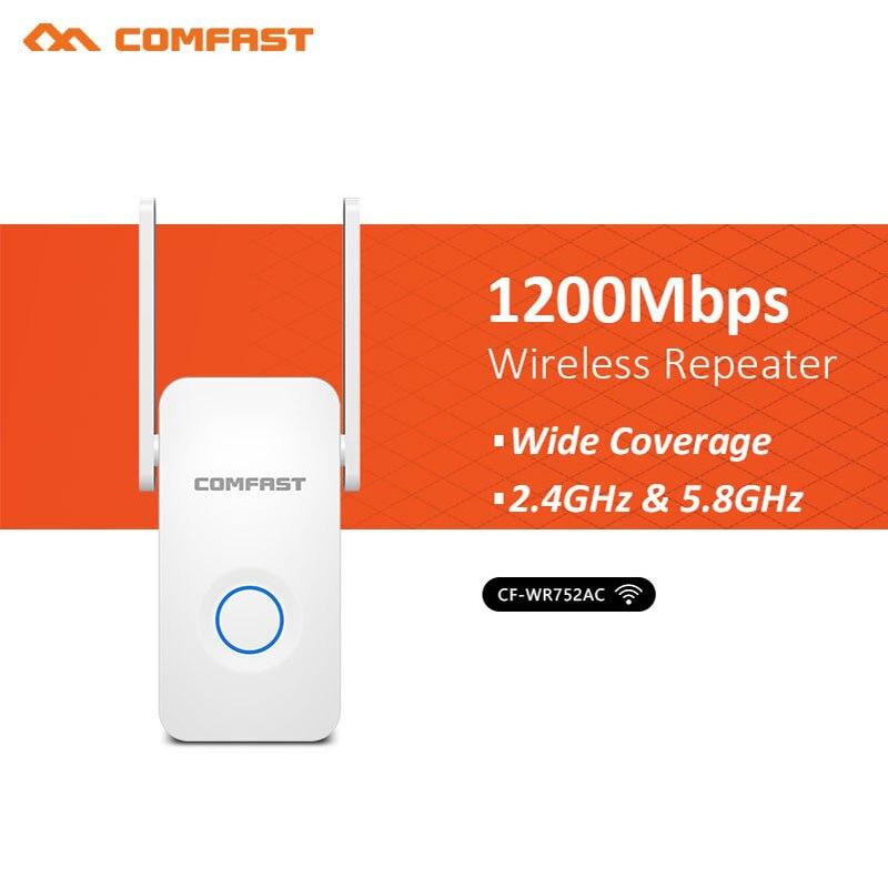 Extension/répéteur/AP/routeur Wifi réseau sans fil double bande 1200 Mbps antenne amplificateur de signal d'extension de gamme wi-fi 5.8 Ghz