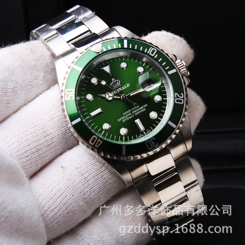 3c217182cc7 2016 Marca de Luxo Relógio de Pulso Hk Coroa Homens Da Forma Rotativa Bisel  GMT Data Vidro de Safira de Aço Inoxidável Vestido Relógios de Quartzo em  ...