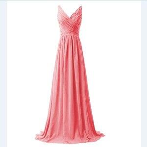 Image 3 - Lly1130t # vestidos de noiva, para festa de casamento, baile, moda feminina, decote em v, longo, com renda, azul céu